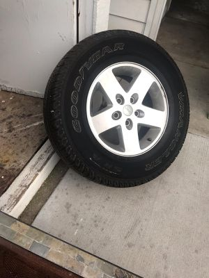 Jeep wrangler tires and wheels for Sale in Syracuse, UT