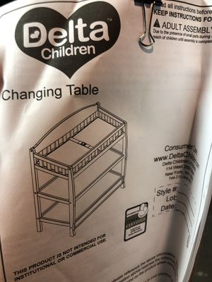 White changing table for Sale in Revere, MA