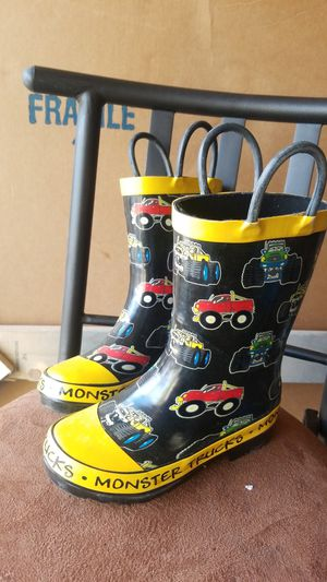 Monster truck rain boots, size 11 for Sale in Brighton, CO