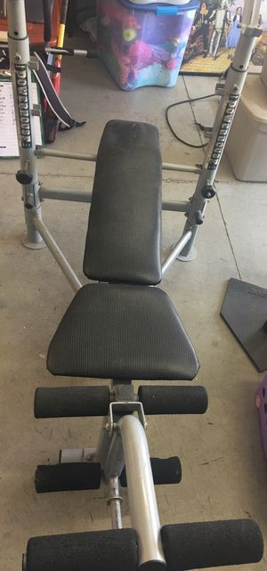Weight bench and weights (Great Condition) (or best offer) for Sale in Rancho Cucamonga, CA