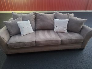 Plush suede/microfiber couch for Sale in Vancouver, WA