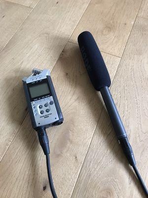 H4N + RODE NTG2 audio recording setup for Sale in Everett, WA