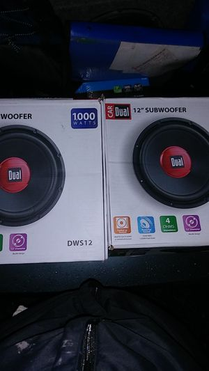 "2 12"" Dual Subwoofers 1000 watts for Sale in Burien, WA"