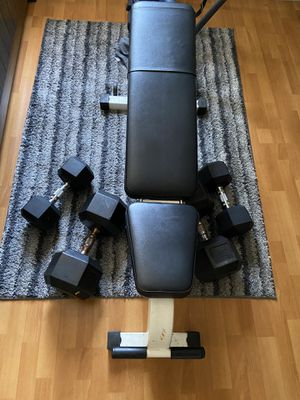 Incline bench, 2 pair dumbbells 40lb, 90lb for Sale in Los Angeles, CA