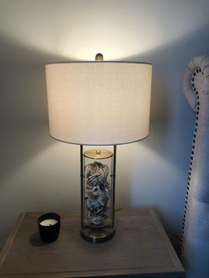 Dimond D1978 15-Inch Width by 29-Inch Height Millisle Table Lamp in Antique Brass and Clear Glass with Shells Inside for Sale in Philadelphia, PA