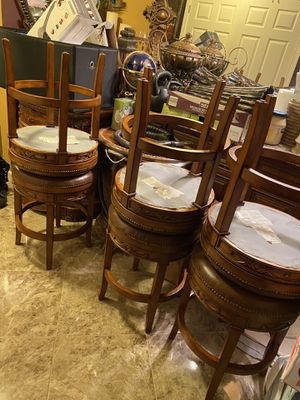 6 leather chairs moving must go ASAP for Sale in Woodstock, GA
