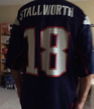 Reebok Patriots NFL Jersey, Large Size, # 18 Stallworth, Great Receiver for the PATS ! for Sale in Pinellas Park, FL