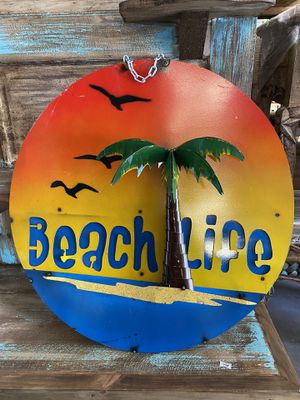 Beach Life Metal Sign for Sale in Cedar Park, TX