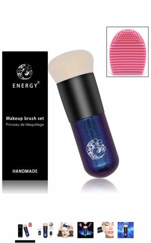 Brush Chubby Makeup Brush Premium Dense Bristles with Dreamy Star Handle Portable Makeup Cosmetic Tool with 1 Makeup Brush Cleaner/Brush Egg for Sale in Elkridge, MD
