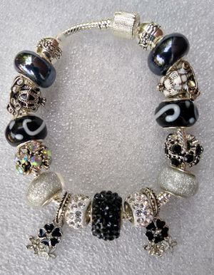White and black charm bracelet 1for $15 or 2 for $25 for Sale in Baltimore, MD