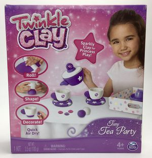 New Twinkle Clay Tiny Tea Party Sparkly Air Dry Clay Activity Kit (Tarpon Springs) for Sale in Tarpon Springs, FL