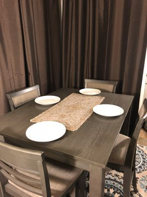 Counter Height Gray Table Set for Sale in Fresno, CA