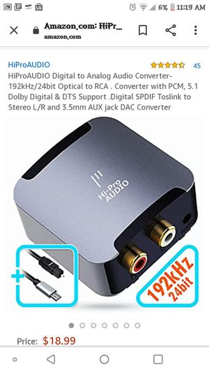 Hi-Pro Audio digital to analog audio converter for Sale in Azusa, CA