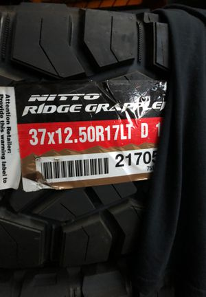 37x125017 nitto ridge grappler for Sale in Manassas, VA