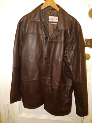 New leather jacket men's L for Sale in Queens, NY