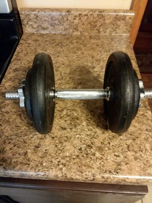 25lb dumbbell with bar and all weights 30.00 for Sale in Erie, PA