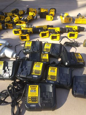DeWalt Chargers $25 each are the tools they sell 55% of whatever they sell for at Lowe's for Sale in ARROWHED FARM, CA