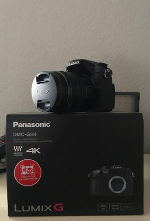 Panasonic gh4 + Lens + LED ultra high powered Light for Sale in Carrollton, TX