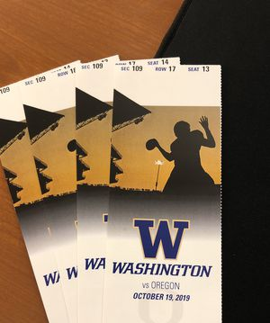 UW vs Oregon 2 tickets for Sale in Redmond, WA