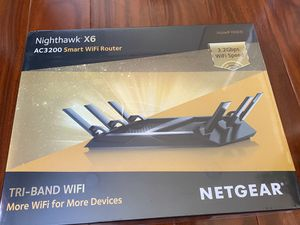 NETGEAR Nighthawk X6 AC3200 Tri-Band Gigabit Wi-Fi Router & NETGEAR High Speed DOCSIS 3.0 Cable Modem Bundle for Sale in San Jose, CA