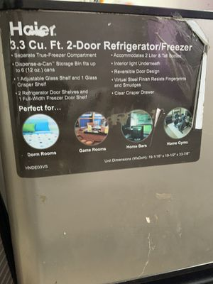 Haier 3.3 refrigerator/freezer for Sale in Brooklyn, NY