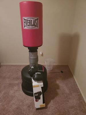 Boxing bag and gloves for Sale in Everett, WA