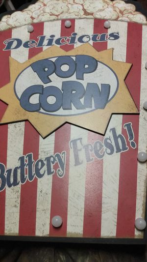 popcorn light up sign great for bar man cave or she shed etc. for Sale in West Columbia, SC