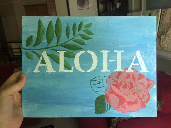 """Aloha"" painting"