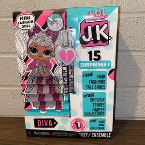 L.O.L. Surprise! JK LADY DIVA Mini Doll LOL OMG New for Sale in Houston, TX