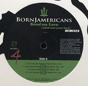 Born Jamericans - Send My Love (Remixes) - (12-inch Vinyl Record) Single for Sale in Corona, CA
