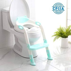 Brand New) Potty Training Seat Toddler Toilet Seat with Step Stool Ladder,Potty Training Toilet-Comfortable Safe Seat ,Anti-Slip Pads Ladder (Blue) for Sale in Duluth, GA