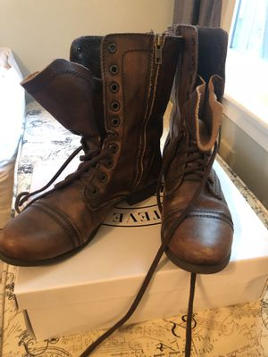 Steve Madden Women's Brown Leather Combat Boots for Sale in Virginia Beach, VA