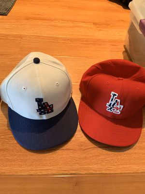 L.A. Dodger hats fitted and flex fit size is 7 3/8 and Large/XL $10-20 each for Sale in Pomona, CA