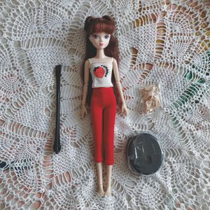 Kurhn doll Chinese Barbie Pullip strawberry outfit new nwot doll stand extra hands articulated bjd for Sale in Salt Lake City, UT