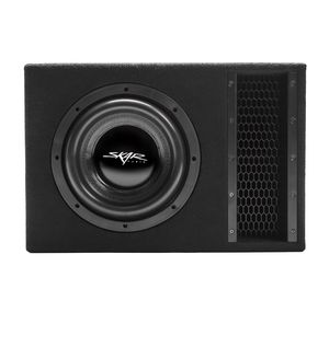 10-inch, dual 2-ohm, Skar Audio EVL Series subwoofer, which is pre-loaded and wired up inside of a premium single 10-inch wedge-style ported enclosure for Sale in Baldwin Park, CA