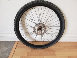 Front disc light weight rim and tire great condition for Sale in Fontana, CA