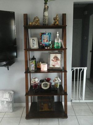 Brand new ladder shelf 5 tier from overstock $100 for Sale in Clearwater, FL