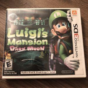 Lugi's mansion Dark Moon 3DS CASE ONLY for Sale in Phoenix, AZ