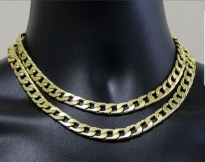 """2pc Choker Set Chains 9mm Cuban Links 14k Gold Plated Hip Hop 16"""" 18"""" Necklaces for Sale in Middletown, CT"""
