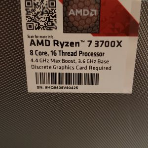 AMD 3700X CPU - Used for Sale in Irvine, CA