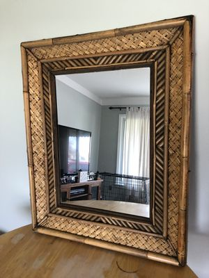 Bamboo frame mirror for Sale in Southgate, MI