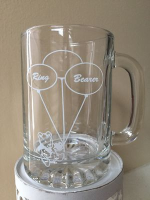 """❗️IF POSTED THEN AVAILABLE❗️NEW 4"""" Bridal Wedding Ring Bearer Glass Mug for Sale in Plainfield, IL"""