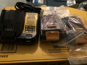 Dewalt 2 batteries and charge 20volt for Sale in Adelphi, MD