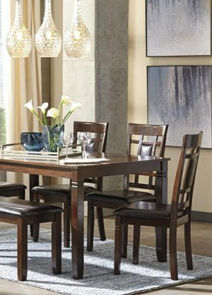 Free Delivery 🐋  BEST Deal 🐋 [SPECIAL] Bennox Brown 6-Piece Dining Set 182 for Sale in Houston, TX