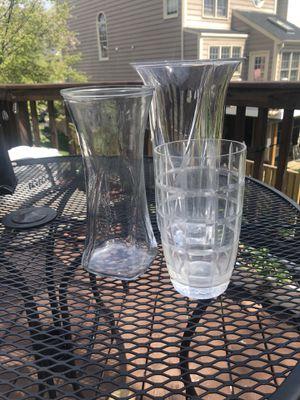 Glass flower vases for Sale in Sterling, VA