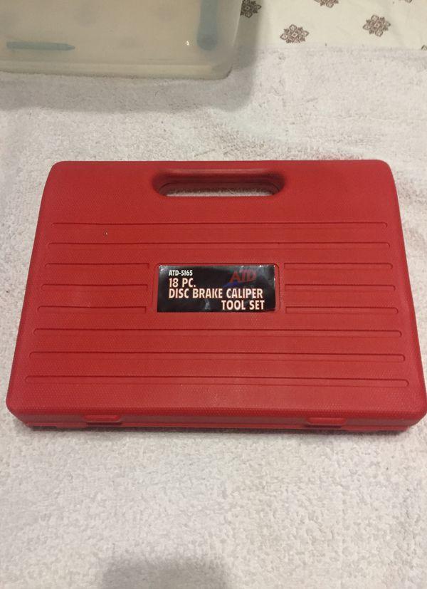 18 pc disc brake caliper tool set