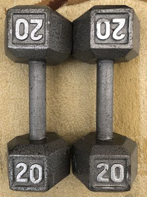 CAP Barbell Cast Iron Hex Dumbbell, 20lbs for Sale in Fairfax, VA