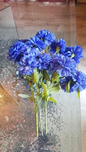 Lovely Floral Blue Flowers. 3 stems (Green Vase NOT included). for Sale in Arlington, TX