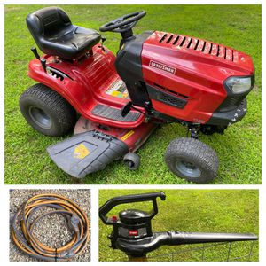 MOVING! Craftsman Riding Mower/Toro Leaf Blower/Ridgid Extension Cord for Sale in Acton, MA