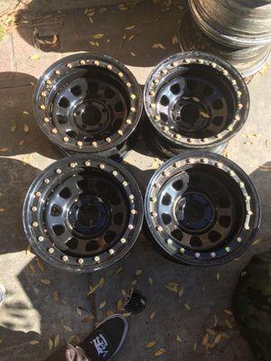 15 inch black 5x4.5 older jeep or ranger wheels rims for Sale in El Cajon, CA